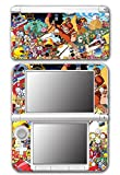 Super Smash Bros Retro Collage Donkey Kong Bomberman Megaman Kirby Video Game Vinyl Decal Skin Sticker Cover for Original Nintendo 3DS XL System