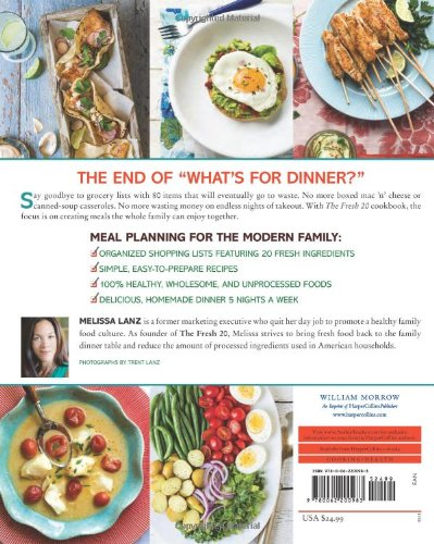 The fresh 20 20 ingredient meal plans for health and happiness 5 the fresh 20 20 ingredient meal plans for health and happiness 5 nights a week melissa lanz 9780062200983 amazon books forumfinder Choice Image