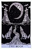 "Third Eye Export Decorative ""Crying Wolf of the Moon"" Bedding Tapestry Wall Decor/Ethnic Wall Hanging Art/Hippie Wall Art/Bohemian Wall Hanging Décor/Gypsy Boho Bedspread – Twin Bedsheet"