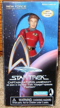 Trek Figure Star Playmates - Star Trek Voyager Captain Kathryn Janeway Flashback Action Figure