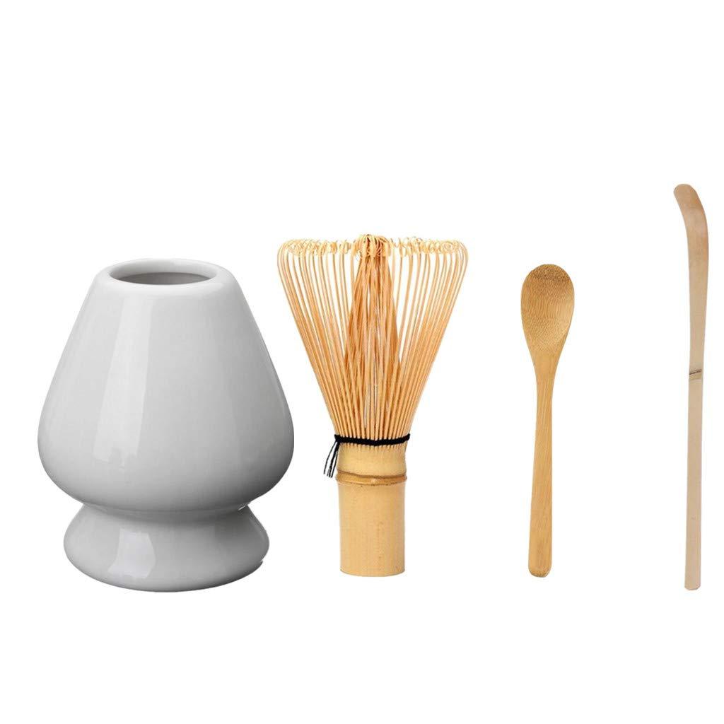cucchiaio in bamb/ù giapponese Matcha set attrezzi mestolo in bamb/ù frusta frusta da cucina in ceramica Holder Fit per uso cerimonia del t/è Green bamb/ù