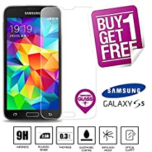 BisLinks® 100% Genuine Tempered Glass LCD Screen Protector Film For Samsung Galaxy S5