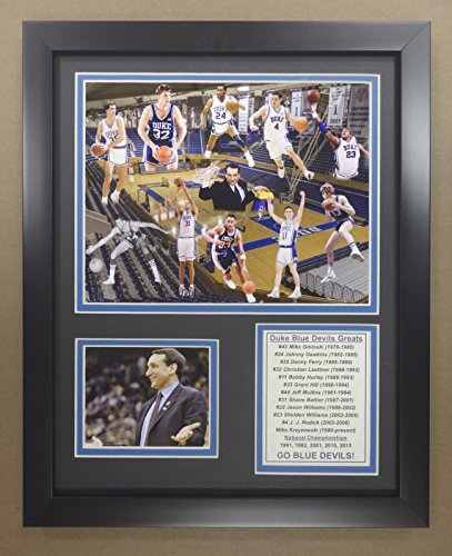 Legends Never Die NCAA Duke Blue Devils Basketball Greats Double Matted Photo Frame, 12