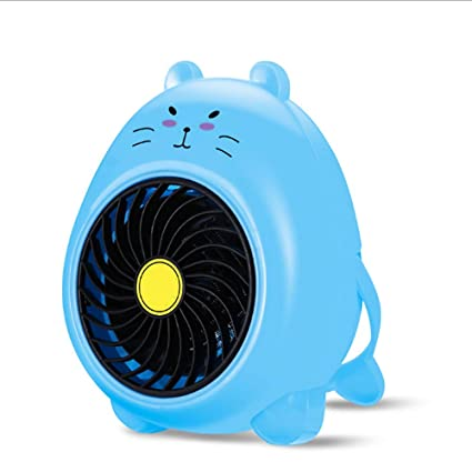 XPZ00 Mini Calentadores Calefactores Domésticos Calefactores Eléctricos Acondicionador De Aire Pequeño Frío Y Cálido,Blue