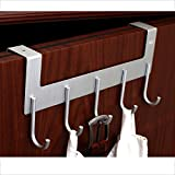 BJLWT No Need For Nail Hooks, Aluminum Hooks Hanging Behind The Door Seamless Creative Hook -Beautiful and durable (Size : L)