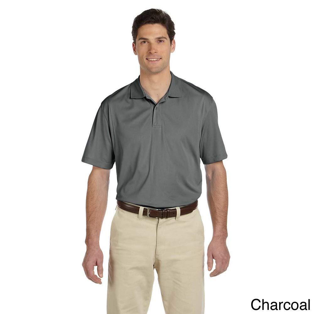 Harriton Mens Short-sleeve Moisture-wicking Micro-Pique Polo Red 4XL
