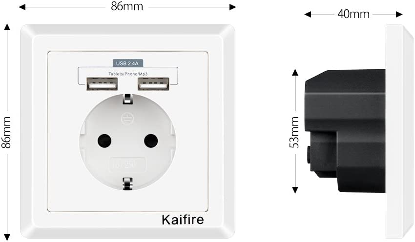 Enchufes con USB 2.4A