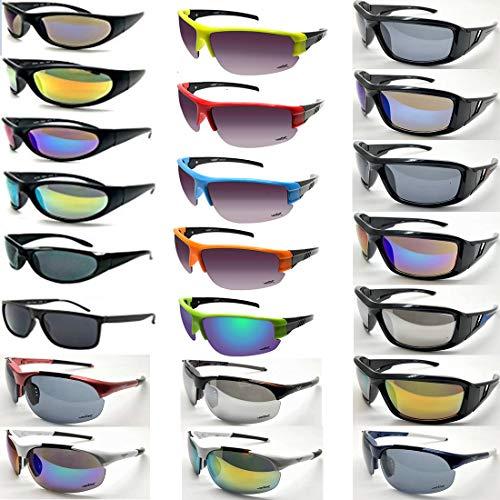 24 Pair Wholesale Lots Bulk Sport Biker Choppers Sunglasses Glasses Men Women