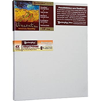 Image of Masterpiece Artist Canvas VY-2639 Vincent Pro 7/8' Deep, 26' x 39', Linen 13.0oz - 4X - Malibu Alkyd Oil Primed Canvas Boards & Panels