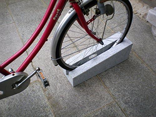 自転車止め サイクルスタンド 御影石 キューブデザイン ピンク色