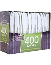 Nicole Home Collection 400-Count Everyday Cutlery Boxed Plastic Knife, White