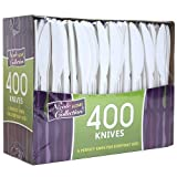 Best Knife With Polypropylenes - Plastic Cutlery, Knifes, Medium Weight Disposable, 400 Count Review