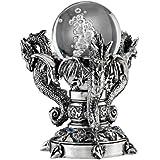 Design Toscano Dragons of Corfu Castle Mystic Glass Globe, Silver