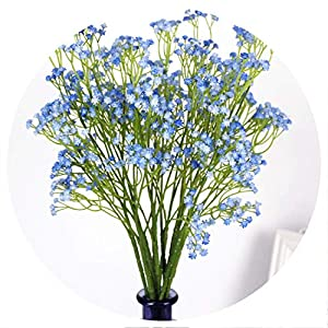 58cm Rustic Artificial Baby Breath Flower Wedding Flower Decor for Home Party gypsophila 21 pcs,Blue 119