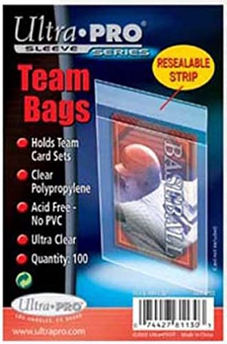 10 Ultra Pro Team Bags Resealable (10 100ct Packages) - for Storing Card Sets And Top Loaders 51JCskKsu-L