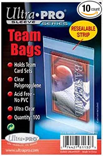 Ultra Pro One-Touch Resealable Bags Sleeves For Card Holders 1000 // 10 Packs
