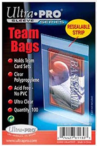 (10 Ultra Pro Team Bags Resealable (10 100ct Packages) - for Storing Card Sets And Top Loaders)