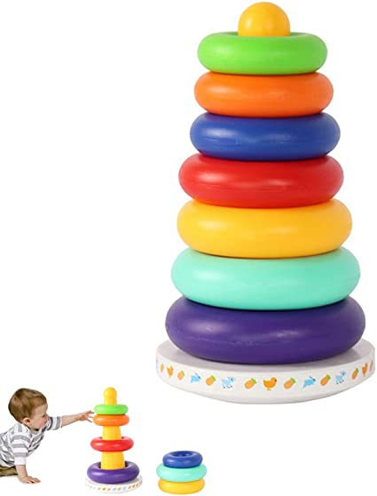 Ideal Baby Preschool Toy Gifts Music Tumbler Colorful Educational Activity Toys for Infants Babies Toddlers for 6 Month and up AMONE Stack /& Learn