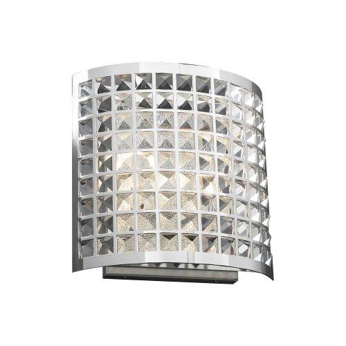 Plc Polished Sconce - PLC Lighting 18186 PC 2-Light Wall Fixture Jewel Collection, Polished Chrome Finish