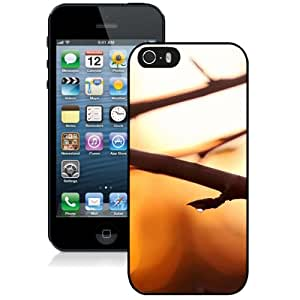NEW Unique Custom Designed iPhone 5S Phone Case With Blooming Branch Close Up_Black Phone Case