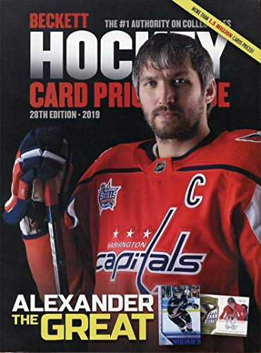 Current Beckett Hockey Annual Card Price Guide 28th Edition 2019 Alex Ovechkin