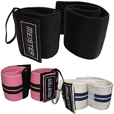 Elastic Support Lifting Wrist Wraps w/ Thumb Loop (Pair) by Meister MMA