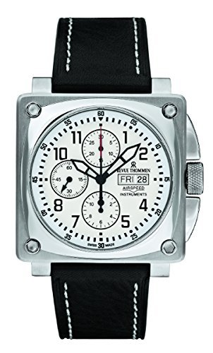 Revue Thommen Men's 16700-6533 Airspeed Chronograph Automatic White Dial Watch