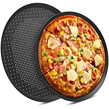 Amazon Com Nonstick Pizza Pans With Holes Beasea 2 Pack