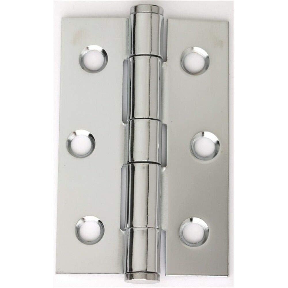 XLY 4 Pcs Folding Butt Hinges Silver Tone Home Furniture Hardware Door Hinge