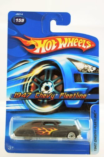 Hot Wheels - 2006 - 1947 Chevy Fleetline - Black w/ Flames Paint - #159 - Limited Edition - Collectible