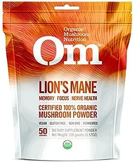 product image for Om Organic Mushroom Nutrition Lion's Mane, 3.57 Ounce by Om Organic Mushroom Nutrition