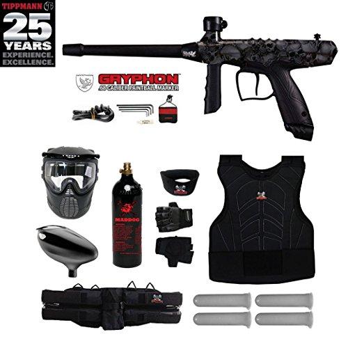 Tippmann Gryphon FX Starter Protective CO2 Paintball Gun Package - Skull