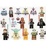 DESO® [3 days to delivered]16pcs/Set High Quality star Wars lego figures star wars minifigures Building Bloks Sets Model Toys Minifigures Brick Toys star wars Figures Minifigures Toys