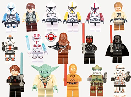 DESO®16pcs/Set High Quality star Wars lego figures star wars minifigures Building Bloks Sets Model Toys Minifigures Brick Toys star wars Figures Minifigures Toys