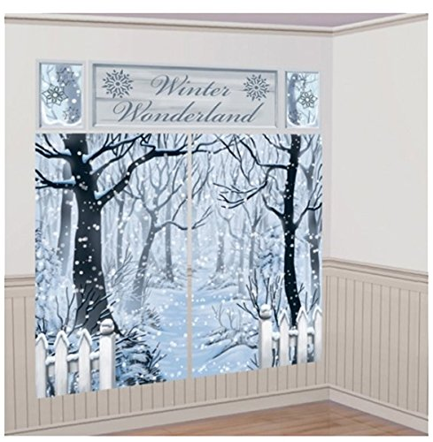 Christmas Fancy Party Room Decor Scene Setters Winter Wonderland Kit Pack Of 5