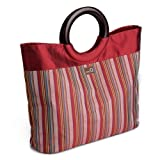 della Q Lena Knitting Bag (14.5'' L x 10'' H x 4'' W); 004 Red Stripes 305-1-004