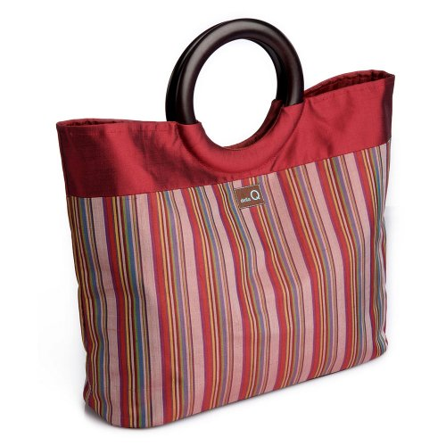 della Q Lena Knitting Bag (14.5'' L x 10'' H x 4'' W); 004 Red Stripes 305-1-004 by della Q