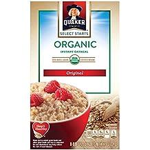 Quaker Instant Oatmeal, Organic Regular, 8 Ounce