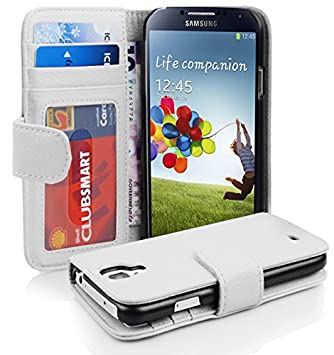 Cadorabo Funda Libro para Samsung Galaxy S4 en BLANCO MAGNESIO: Amazon.es: Electrónica