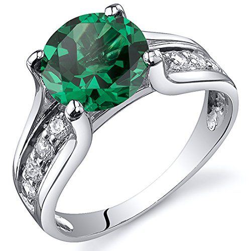 Emerald Solitaire Ring - 4