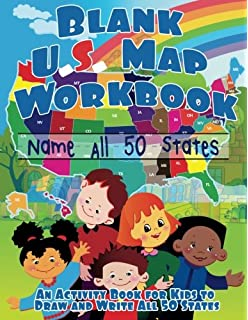 blank us map workbook name all 50 states draw and write activity book for