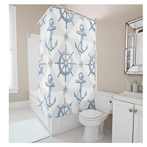 YYT-Shower-Curtains-Nautical-Anchor-Sailing-Ships-Wheel-Compass-Patter-Shower-Curtain