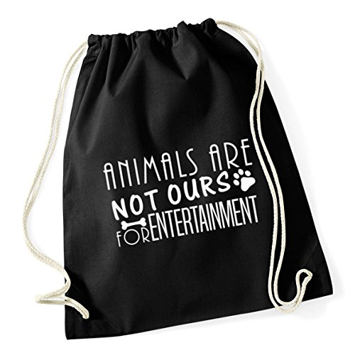 Kid Drawstring Not Black Bag Sack litres School For Entertainment Are x 46cm 37cm 12 Gym Ours HippoWarehouse Animals Cotton qUYvEv