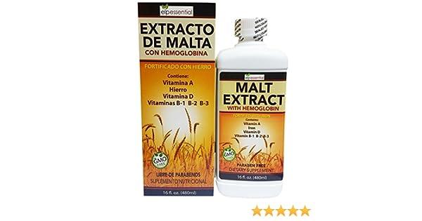 Amazon.com: Extracto de Malta Con Hemoglobina Fortificado con Hierro 16oz (450ml): Health & Personal Care