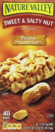 Nature's Valley Sweet and Salty Granola Bars Peanut dipped in Peanut Butter Coating, 36 Count, Pack of 1 by Nature Valley (Image #1)