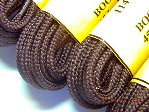 Greatlaces Chokladbrun Proboot (tm) Robust Slit Boot Runda Skosnören - (2 Par Pack)