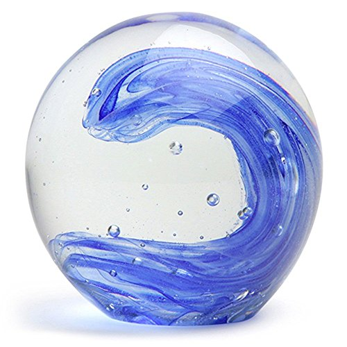 Glass Handmade Large Paperweight - Wave Glow - 4