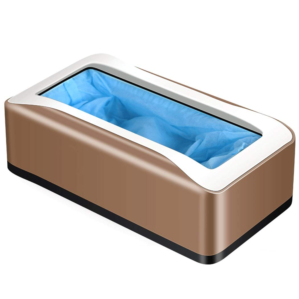 Yongyong Solid Color Shoe Cover Machine Household Disposable ABS Foot Cover Machine Anti-Skid 412113CM (Color : Gold, Size : 422113cm)