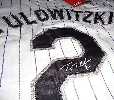 huge discount 48354 10fd0 TROY TULOWITZKI signed COLORADO ROCKIES jersey W/COA at ...
