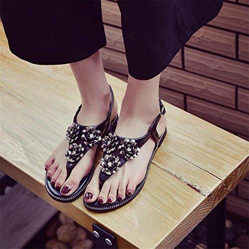 Pattini Black Sandals Antisdrucciolevoli Di Pengweipattini Signore Delle Estivi 60x15S